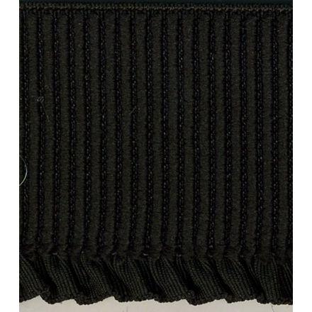 Elastique Bord Côte tout textile 60 mm Noir x1m