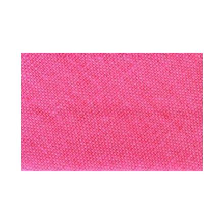 Biais replié tout textile 20 mm Rose bonbon x1m