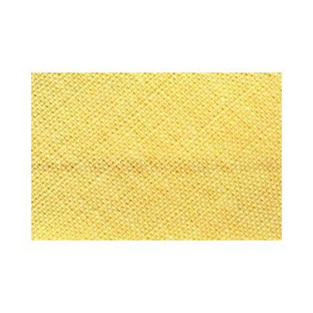 Biais replié tout textile 20 mm Jaune nankin x1m