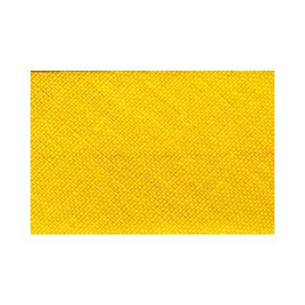 Biais replié tout textile 20 mm Jaune ambre x1m