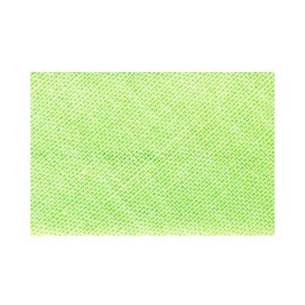 Biais replié tout textile 27 mm Vert blanc x1m