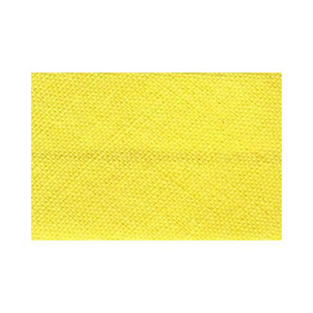 Biais replié tout textile 27 mm Jaune poussin x1m