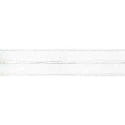 Elastique Boutonnière Nylon 19 mm Blanc x1m