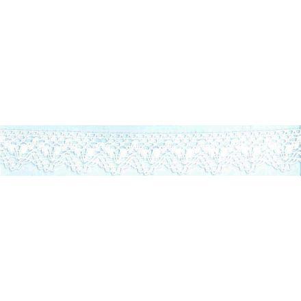Dentelle Coton Blanc x1m