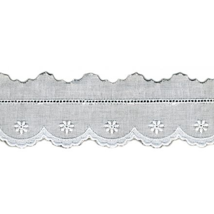 Broderie Anglaise 38 mm Blanc x1m