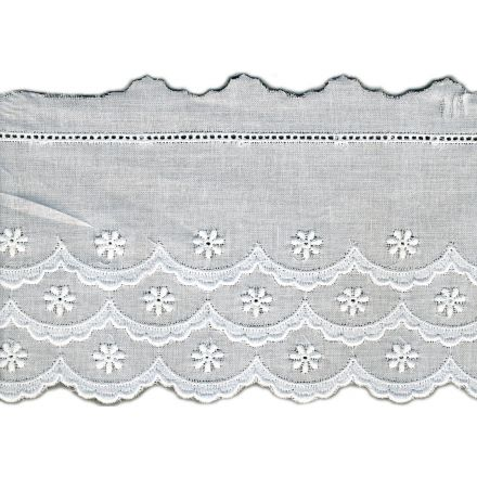 Broderie Anglaise 85 mm Blanc x1m