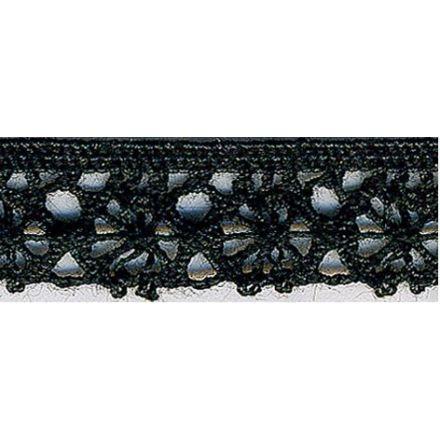 Dentelle Polyester 15 mm Noir x1m