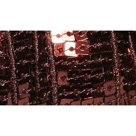 Galon Paillettes 22 mm Marron Paillettes x1m