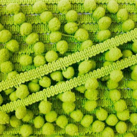 Galon Petit pompon Vert pomme - Au mètre