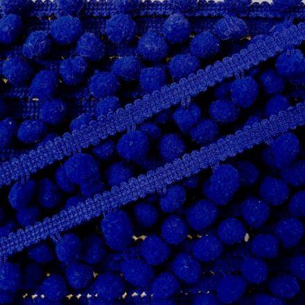 Galon Petit pompon Bleu roi - Au mètre