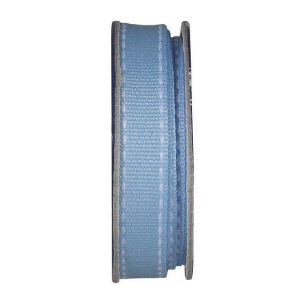 Ruban surpiqué Bleu ciel - bobinette 2m