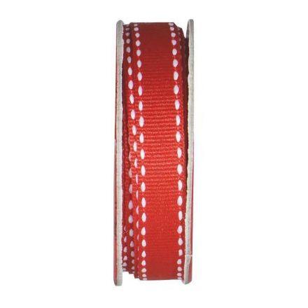 Ruban surpiqué Rouge - bobinette 2m