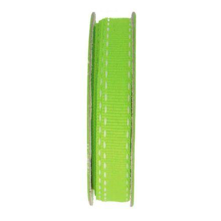 Ruban surpiqué Vert - bobinette 2m