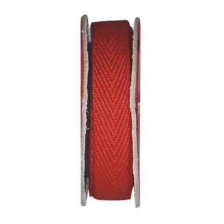 Ruban sergé Rouge - bobinette 2m