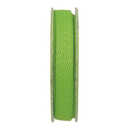 Ruban sergé Vert - bobinette 2m