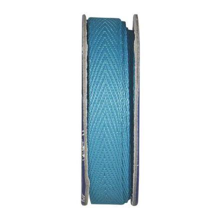 Ruban sergé Bleu turquoise - bobinette 2m