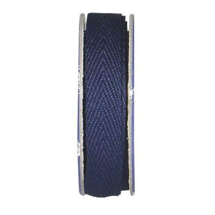 Ruban sergé Bleu nuit - bobinette 2m