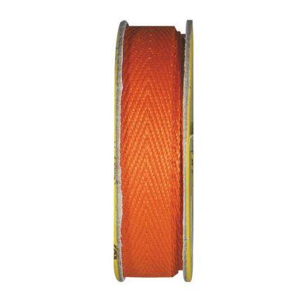 Ruban sergé Orange - bobinette 2m