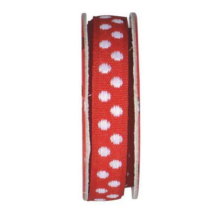 Ruban pois Rouge - bobinette 2m