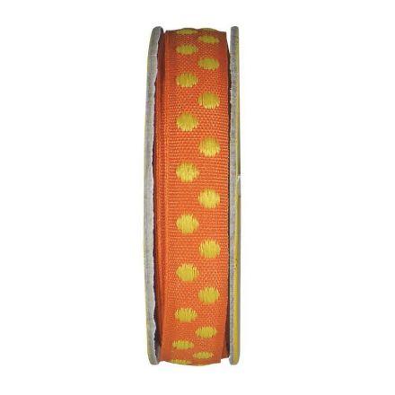 Ruban pois Orange - bobinette 2m