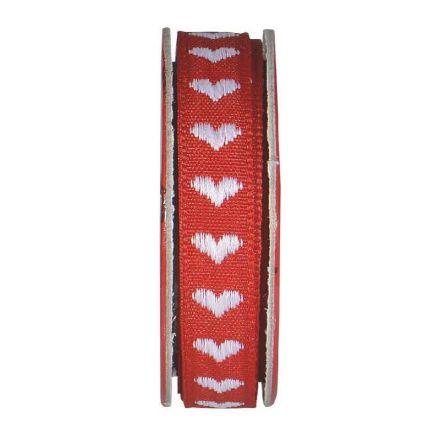 Ruban cœur Rouge - bobinette 2m
