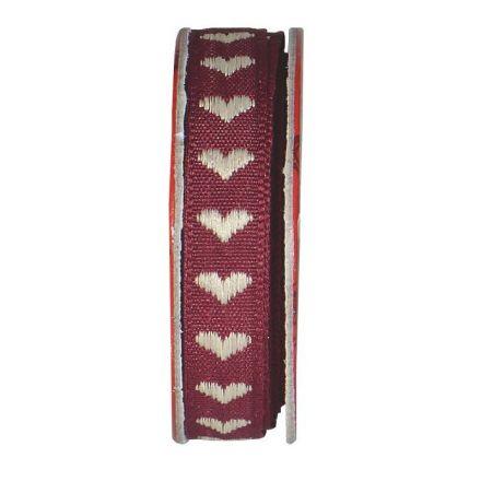 Ruban cœur Violet - bobinette 2m