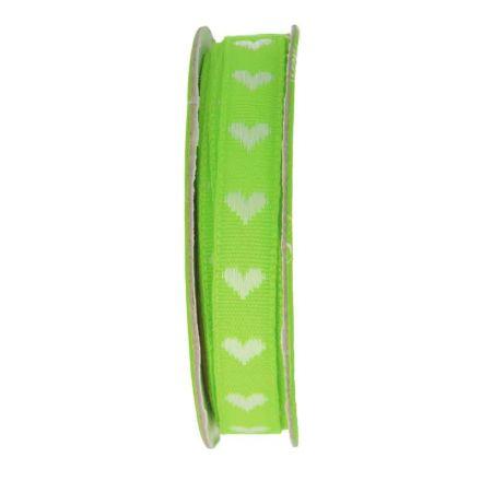 Ruban coeur  Vert - bobinette 2m