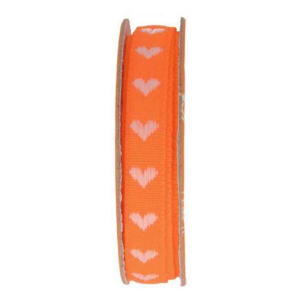 Ruban coeur  Orange - bobinette 2m