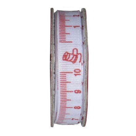 Ruban mètre couture Rouge - bobinette 2m
