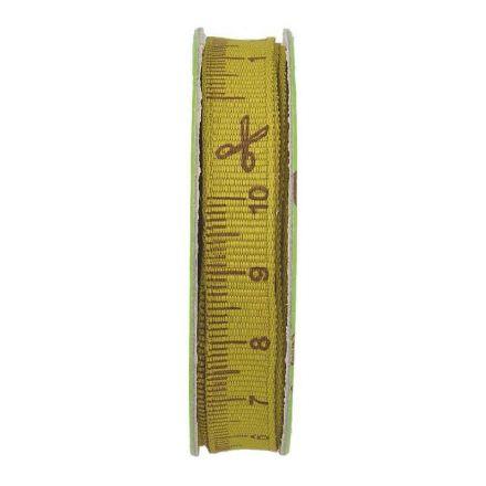 Ruban mètre couture Kaki - bobinette 2m