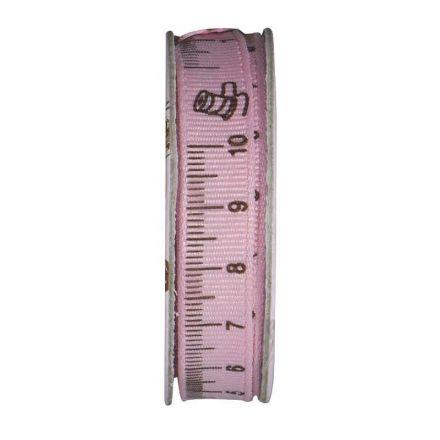 Ruban mètre couture Rose - bobinette 2m