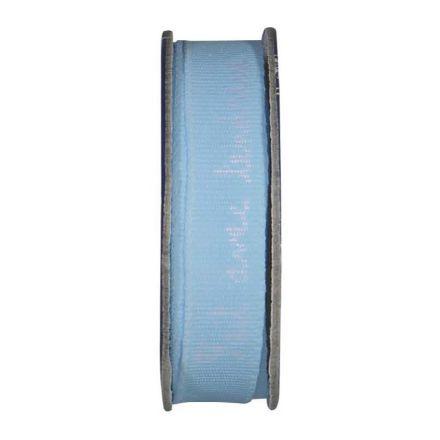 Ruban imprimé Fait avec tendresse Bleu pastel - bobinette 2m