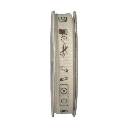 Ruban accessoire couture  Vanille - bobinette 2m