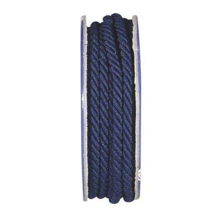Cordon torsadé Bleu nuit - bobinette 2m