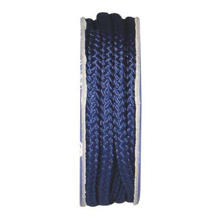 Cordon tressé Bleu nuit - bobinette 2m