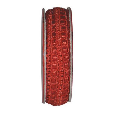 Ruban épi lurex Rouge - bobinette 2m