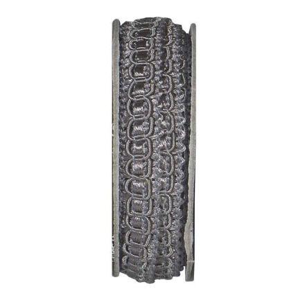 Ruban épi lurex Gris pierre - bobinette 2m