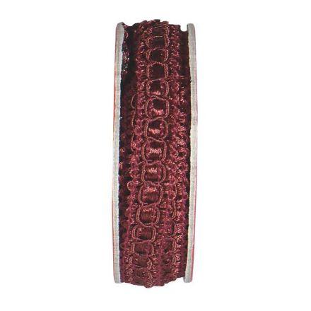 Ruban épi lurex Violet - bobinette 2m