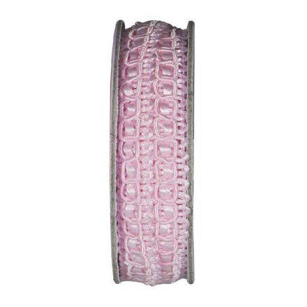 Ruban épi lurex Rose - bobinette 2m