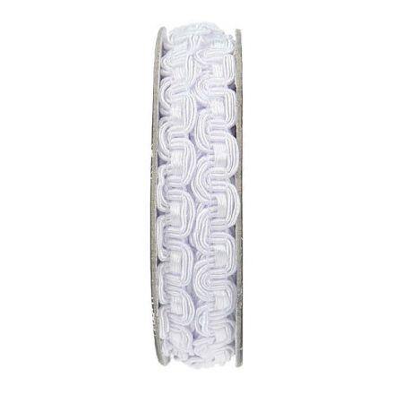 Galon brocart vague Blanc - bobinette 2m