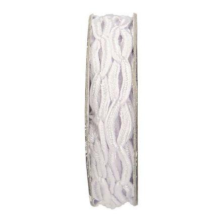 Cordon forme chaine Blanc - bobinette 2m