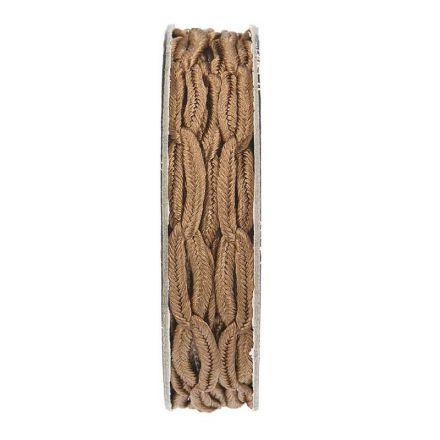 Cordon forme chaine Marron clair - bobinette 2m