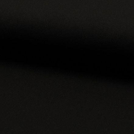 Tissu Coton Sergé d'ameublement uni Noir - Par 10 cm