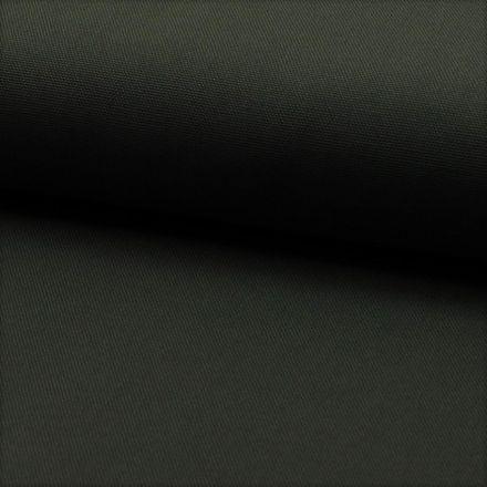Tissu Coton Sergé d'ameublement uni Anthracite - Par 10 cm