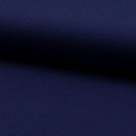 Tissu Coton Sergé d'ameublement uni Denim - Par 10 cm