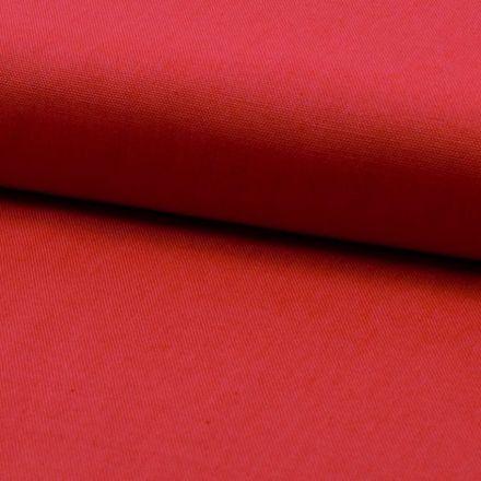 Tissu Coton Sergé d'ameublement uni Corail - Par 10 cm