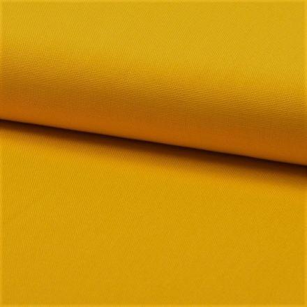 Tissu Coton Sergé d'ameublement uni Curcuma - Par 10 cm