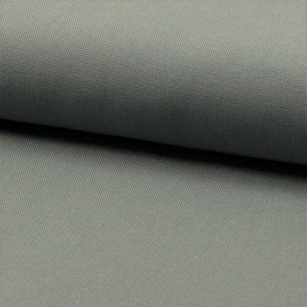 Tissu Coton Sergé d'ameublement uni Gris souris - Par 10 cm