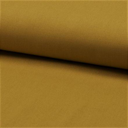 Tissu Coton Sergé d'ameublement uni Moutarde - Par 10 cm