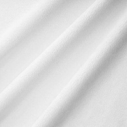 Tissu Minky Ultra doux Ras Blanc x10cm